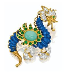 Gem-set and Diamond 'Dragon' Brooch, Cartier
