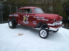 1953/54 Chevy Gasser Bad Nooze Drag Car Plastic Model Car Kit 1/25 Scale #2084 by Revell-Monogram (2084)