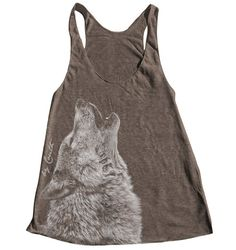 WOLF Women Tank Top American Apparel Triblend by Couthclothing, $18.00