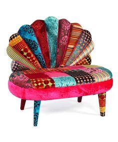 Love this Fucshia & Blue Peacock Love Chair on #zulily! #zulilyfinds