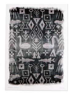 Maailman synty poster by Saana ja Olli. Size: 50x70 cm (19,7x27,5 inch). Printed with professional pride on 180 g/m² paper in Kaarina, Finland. ► http://store.saanajaolli.com/product/maailman-synty-juliste-br-maailman-synty-poster