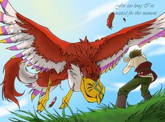 Link and the Crimson Loftwing by Umbra-Neko.deviantart.com on @deviantART