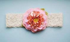 Pink SugarFelt Flower Headband with Sequin by alittleladytheshop, $14.00