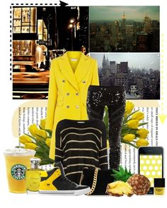 """Yellow Day"" by antemore-765 ❤ liked on Polyvore"