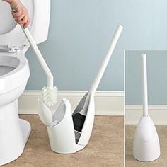 Freshfinds Your Home Closet Storage Toilet Brush And Plunger Set