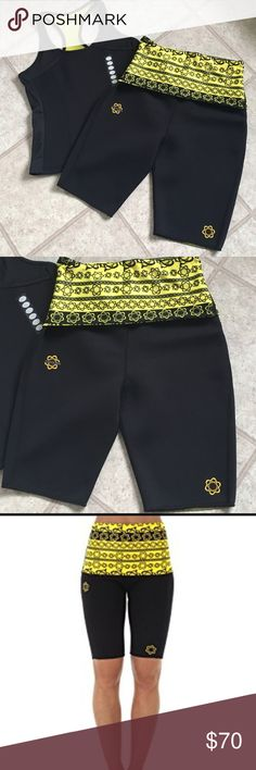 Zaggora UNUSED  Atomica Hot top & Shorts Never used! In good condition, size XL. ThermoFit™ heating fabrics that increase your calorie burn when you wear them during workout. Made of Neoprene/Polyester/ Nylon/ Spandex. Shorts are big waisted, fold over style Zaggora Other
