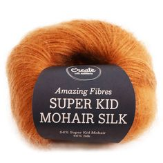 Adlibris Super Kid Mohair Silk 25g Rusty Orange A551 Knitted Hats, Fiber, Beige, Orange, Dark, Amazing, Kids, Vintage, Instagram