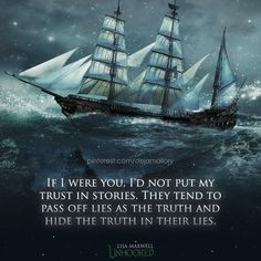 "(Dejamallory)From ""Unhooked"" by Lisa Maxwell. A Peter Pan retelling but a very different one. Tags: captain hook, neverland, book quotes books picture quote ship"