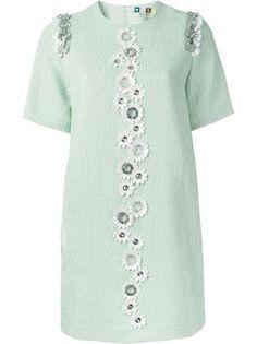 Msgm Jacquard Embellished Dress - Luisa World - Farfetch.com