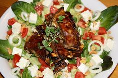 Lammasreseptit Ribs Au Barbecue, Ribs On Grill, Caprese Salad, Cobb Salad, Pizzeria, Restaurant, Dairy Free, Grilling, Gluten