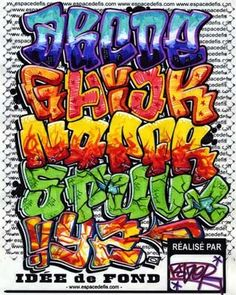 Colour Graffiti Alphabet
