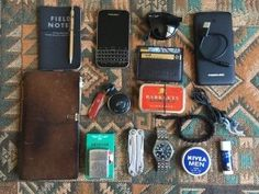 Daily use submitted by coursek Midori Travelers Notebook Leatherman Wingman IWC mark XVII Field notes Blackberry Classic Ray-Ban Folding Wayfarer Bose Mini Nivea Cream 30 Ml / 1 Fl Oz Travel Size EDC 2017 summer Mochila Edc, Mens Travel, Travel Bag, Travel Tips, Travel Accessories For Men, Everyday Carry Gear, What In My Bag, Mens Gear, Gadgets