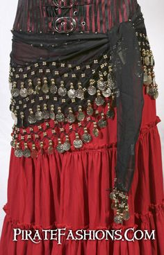 Sea Wench Hip Scarf – Pirate Fashions $16 could be a good matching cover up!