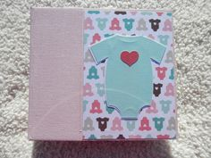 6x6 Pink Baby Girl Scrapbook by SimplyMemories on Etsy