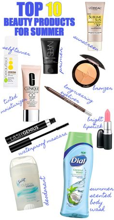 Top 10 Beauty Products for Summer
