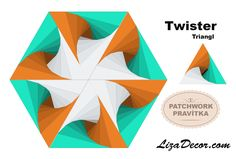 #patchwork #twister #triangl #square #tutorial #technika #vzory #návody