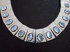 Vintage Antonio Pineda SIlver Moonstone Necklace