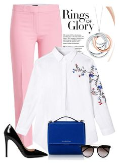 """power of pink"" by arzuyalhi on Polyvore featuring Tiffany & Co., Theory, Prada, Givenchy and Calvin Klein"