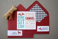 20 Dog Party Invitations by TieThatBindsParties on Etsy, $43.00