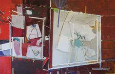 Lucia Laguna, Estúdio nº12, acrílica e óleo sobre tela, 150x230cm, 2007.