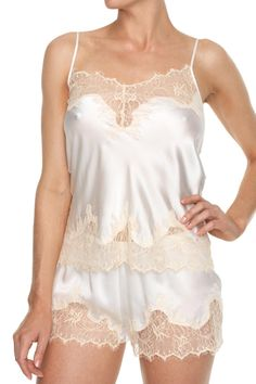 What to wear when room service shows up on your honeymoon?? Kisskill 'Mrs' set, a gorgeous gift for a glamorous bride to be. Made from 100% silk & trimmed with delicate eyelash lace with 'Mrs' embroidery on the back. Perfect for honeymoon & every day after your wedding day. Adjustable straps. Cold hand wash separately with mild detergent   Mrs Pajamas Set by KissKill. Clothing - Lingerie & Sleepwear - Sleepwear Australia