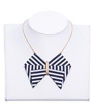 Mademoiselle lau,créatice de bijoux, bijoux en tissu   Collection Sailor