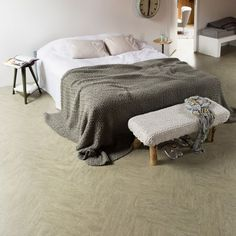 marmoleum vloer in slaapkamer