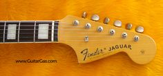 Crafted in Japan Fender Jaguar Headstock. Super cool neck with binding and block inlays.