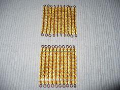 Présentation des perles dorées