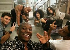 Group photo: Ludacris earlier this month also posted a photo from the set featuring franchise regular Michelle Rodriguez and Tyrese Gibson Letty Fast And Furious, Fast And Furious Memes, The Furious, Vin Diesel, Diesel Fuel, Paul Walker, The Rock Dwayne Johnson, Dwayne The Rock, Rock Johnson