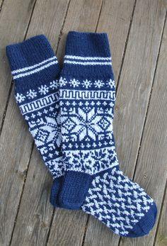 Homemade knitted socks