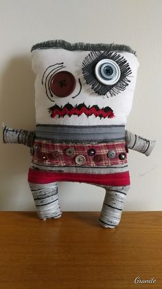 Granite the grim stone (SOLD) Sewing Art, Sewing Crafts, Sewing Projects, Zombie Dolls, Voodoo Dolls, Sock Dolls, Doll Toys, Dammit Doll, Ugly Dolls