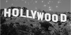 """Hollywood Sign Original Fine Art Photography Panoramic Print Large Wall Art. Panoramic Hollywood, with stars. 