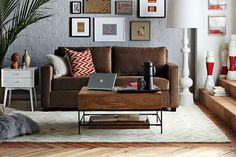 Brown couch idea!