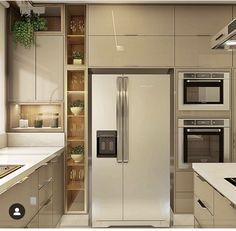 Luxury Kitchen Remodel with Gray Cabinet and Black Marble Countertop Secrets - homesuka Kitchen Remodel, Kitchen Decor, Modern Kitchen, Luxury Kitchen, Kitchen Room Design, Modern Kitchen Cabinet Design, Kitchen Furniture Design, Kitchen Pantry Design, Kitchen Design