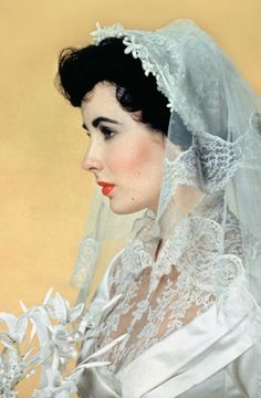 """Elizabeth Taylor in """"Father of the Bride"""" 1950 Costume Design by Walter Plunkett (costumes: men) Helen Rose (costumes: women)."""