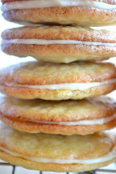 Vanilla on Vanilla Sandwich Cookies - Very vanilla and very good.