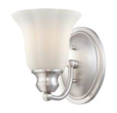 View the Eurofase Lighting 23049 Fountaine 1 Light Wall Sconce with Opal White Bell Shade at LightingDirect.com.