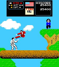 Karate Champ. It was the only video game in the video store not too far from our house back in Calgary.