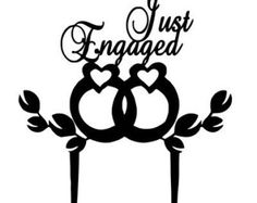 Just Engaged Cake Topper-2, Engagement Party Decorations,Engagement Party Ideas,Cake Topper Engagement ,Bridesmaid Gift, Wedding Cake Topper