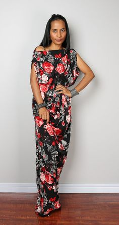 Boho Dress Trendy Bohemian Maxi Dress : Funky Elegant by Nuichan ...