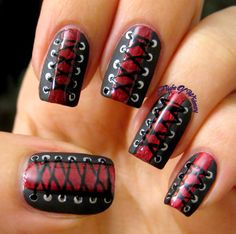 Image result for press on nails corset