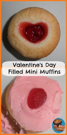 St- Valentin: Mini-muffins fourrés! #valentines #baking #muffins