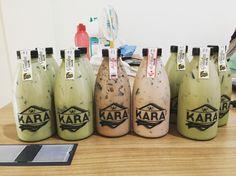 Kara drink with grass jelly #homemadedrink#greentea#nutella#redvelvet