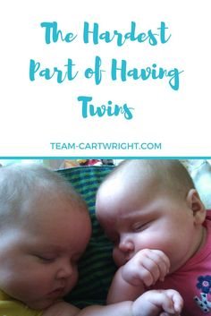 Having twins is such a blessing, but it isn't always easy.  The hardest part isn't the sleepless nights or the extra cost.  For me the hardest part is those moments when you need to hold your baby and give that baby every ounce of you, but your attention is also needed by your other sweet baby.