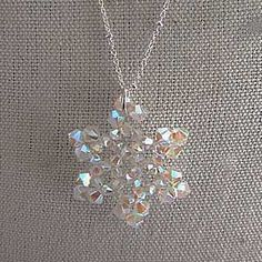 Swarovski snowflake necklace by DonnaCDesigns