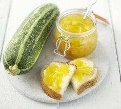 Marrow & ginger jam ... great way to use the over grown courgette's
