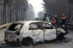 58 dead in central Portugal wildfires; many killed in cars