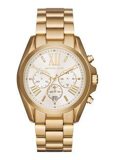 Michael Kors Horloge Mini Slim Runway staal goudkleurig