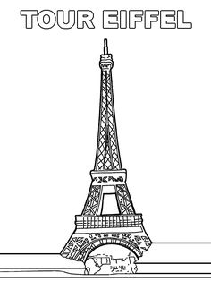 coloriage tour eiffel colorier dessin imprimer. Black Bedroom Furniture Sets. Home Design Ideas